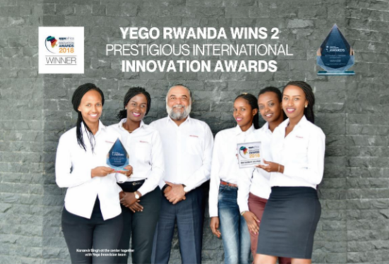 Yego Rwanda wins 2 Prestigious International Innovation Awards